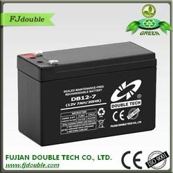 Novel product 12v 7ah dry storage rechargeable battery for led light