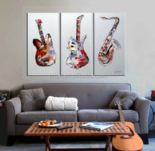 abstract musical instrument oil painting