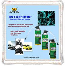 Autokem tyre sealer inflator tire repair spray tyre sealant automatic inflatable spray/fluid