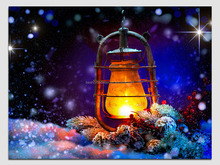 BD35589 canvas print lighted candle picture wall art with led lights