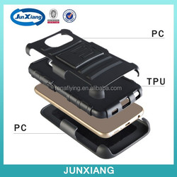 3 in 1 Robot Case for Samsung Galaxy S6,PC+TPU+Film Cover Case For Samsung galaxy S6