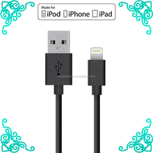 Newest nylon braided usb data cable PVC charger cable for iphone6 apple usb data cable for iphone travel adapter