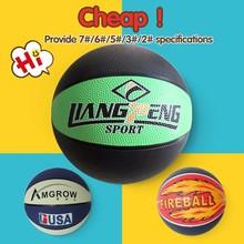 Professional official size basketball to children,kids rubber basketball balls