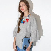 HAODUOYI 2015 Summer Woman Wide Half Sleeve T-shirts Brand Style Casual Tops for Wholesale
