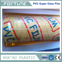 hot blue pvc super clear film roll,plastic sheeting in roll,thick clear plastic roll