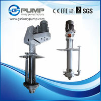 submersible vertical chrome or rubber slurry pump used in pool