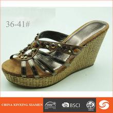 Wholesale woman sandal for 2014 wedge slipper