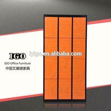 IGO-027 Unique 12 door key storage locker cabinet