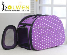 2015 Newest foldable pet dog carrier bag with EVA