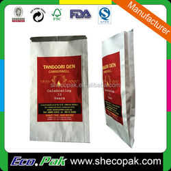 Hot sale hot chicken foil lined paper bag, Fried chicken paper package