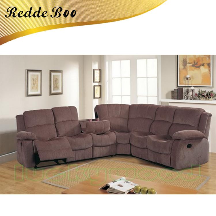 Grande esquina en forma de L sofá de cuero en condiciones de ...
