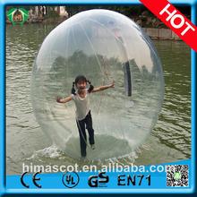 Hola 2014 tpu/baratos pvc gigante bola de agua, las bolas de agua para la venta, bolas de crecer en el agua