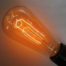 St64 St21 Vintage Edison carbon filament bulb tree leaves shape