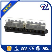 Car Audio 1 In 6 Out Holder Block AMP DC 12V Fuse Box black new