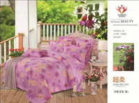 new designs elegant flower printing colorful 3d bed sheet