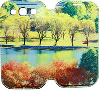 DIY printing Sublimation PU Stand Leather Case for Samsung Galaxy S3 S III 3 i9300