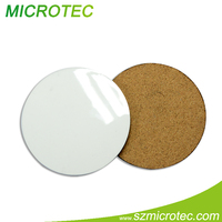 Hot sell 3mm, 5mm MDF Sublimation Blank HardBoard Cork Coaster