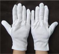 2014 Useful police and military white cotton gloves