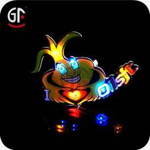 Hot Festival Products Battery Powered Promotional Lighted Lapel Pins