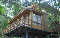 2015 Prefabricated large wood dog house log home factory direct sales