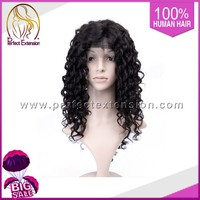 For Women With Silicone Glue Mongolian Virgin Hair Beverly Johnson Baby Mullet Wig