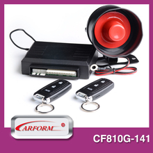 car shape alarm clock security system with window rising output and siren with ultrasonic sensor output