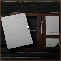 High end notebook and pen gift set, pen and diary set, gift set packaging