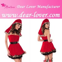 Cheap Red Riding Hood Fairy Tales Sexy Role Play Party Costumes