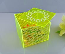 Design de moda acrílico caixa distribuidora de doces da china