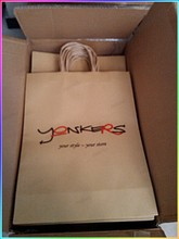 Custom logo printed Kraft paper bag