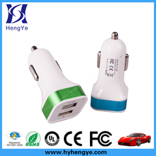 Metal Case 4A Dual USB Car Charger Designed For Ipad Apple Samsung And Android Devices