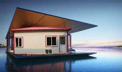 recycling high water modren low cost prefab house design