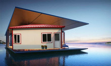 recycling high water modren low cost prefab house design