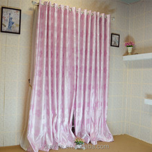 Newest hot selling modern style pink flowers blackout window curtain for children bedroom