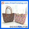 custom design promotional pink waterproof silicone beach bag