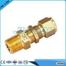 JW Fittings-1/2NPT male double ferrule copper plumbing compression fittings