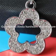 Best New Hot fashion rhinestone gifts&crafts wholesale keychains custom flower keychain key chains for souvenir