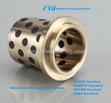 Oilless Guide bushes with Collar NAAMS Standard Flanged bronze self-lubricant bearing bush