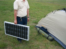 High efficiency camping solar panel with 5m cable