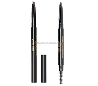 Party Queen double end automatic waterproof flat eyebrow pencil with brush