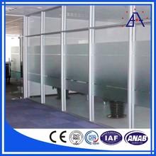 Anodized office partition aluminum profiles aluminium profile for partition