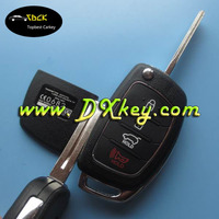 High qualityi 4 button hyundai smart key cover for hyundai IX35 USA model key hyundai key cover