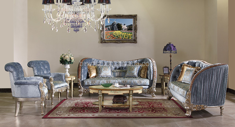 great british retro royal furniture living room gold painting sofa set classical carved wooden. Black Bedroom Furniture Sets. Home Design Ideas