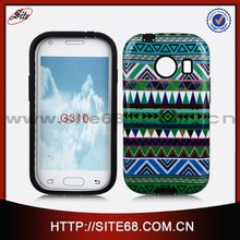 Water transfer hard silicon pc combo mobile phone case for Samsung G310