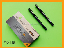 Luxury plastic gel ink pen with gold cap as promotional gift in business