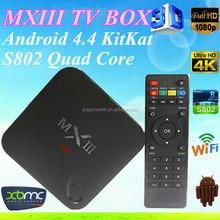 Amlogic S802 Quad Core Xbmc 2g/8g 4k Hd Support Wifi Dlna T8 mxiii android tv box Hd Sex Free Porn Video