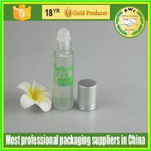 Roll on Refillable Glass plastic Perfume Bottles Including Roller ball Black Caps 10ml