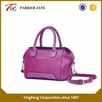 Mature litchi pattern pu leather single shoulder handbag for women