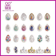 New 3D Czech diamond nail art decoration / 3D Silver Crystal Alloy Nail Art Decorations