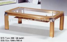 popular commercial furniture fancy glass table